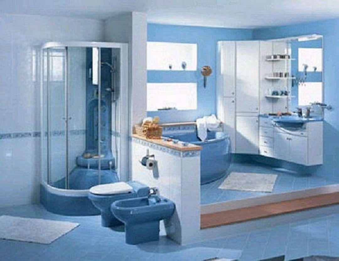 25 Amazing Unique Luxury Blue Bathroom Design Ideas Best Bathroom Colors Blue Bathroom Decor Bathroom Design
