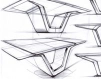 Marble Table Sketches Wip 2014 Furniture Design