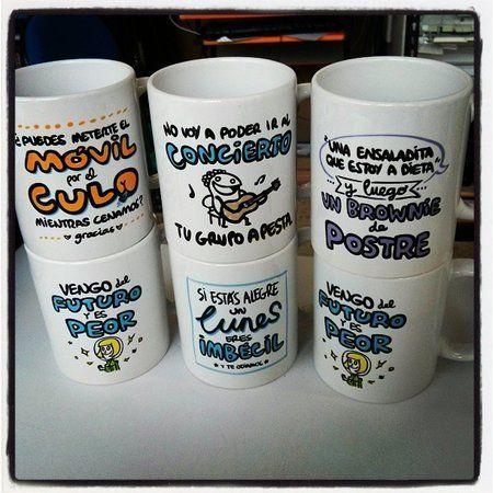 Tazas personalizadas con frases originales.