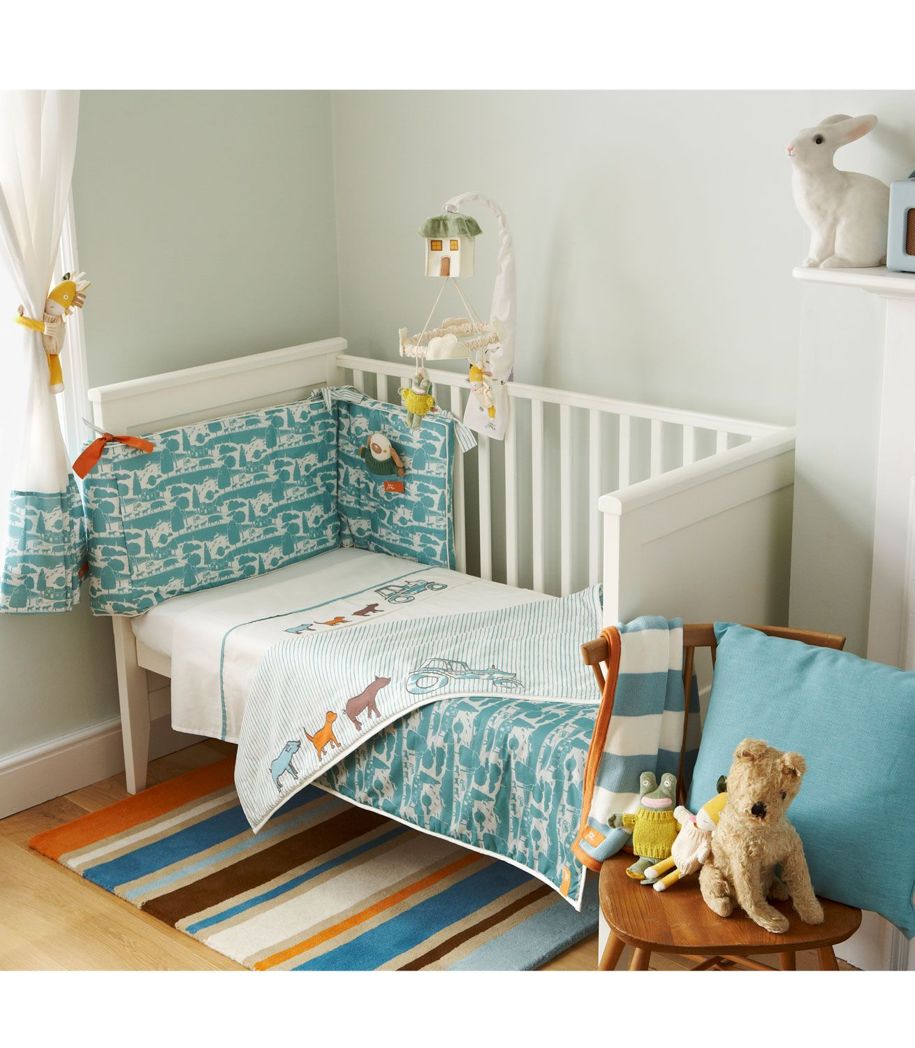 Baby Nursery Cot 2Pc Quilt /& Bumper Bedding Bale Set Jungle animals