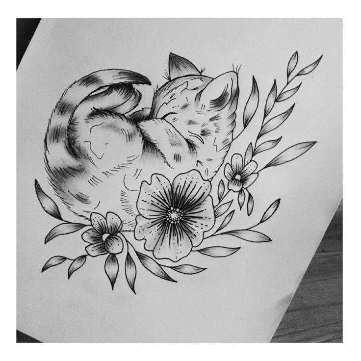 Kitten line art drawing Pinterest inspired @kirstysellers_