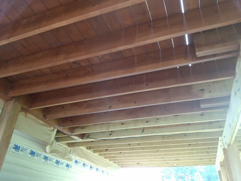 Cedar Deck During Underside Of Deck Also Stained To Control
