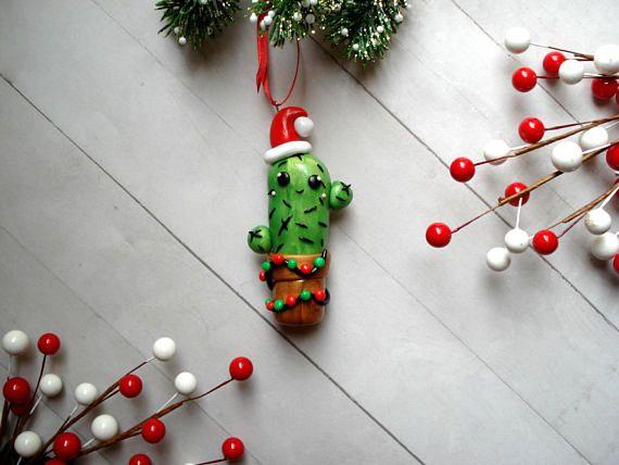 christmas cactus ornament southwest christmas decoration