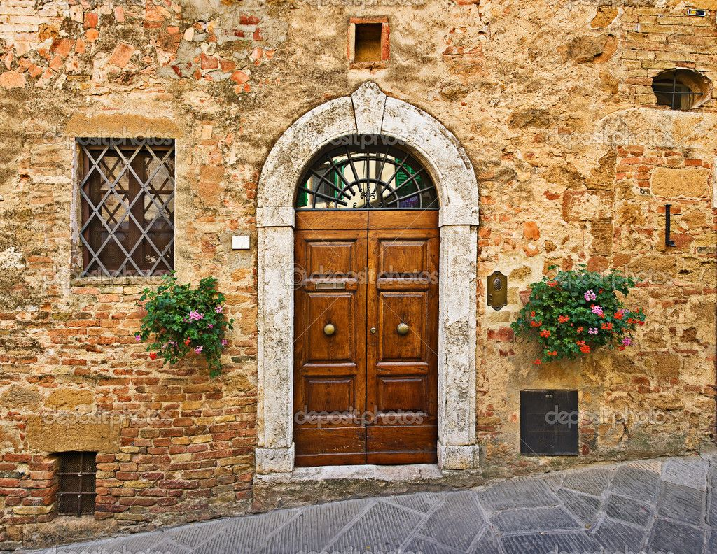Tuscan Architecture Old House Door Pienza Tuscany