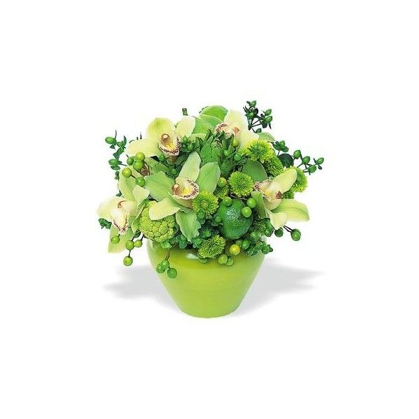 Chartreuse Hues\' Virtual Flower Bouquet by 800Florals. ❤ liked on ...