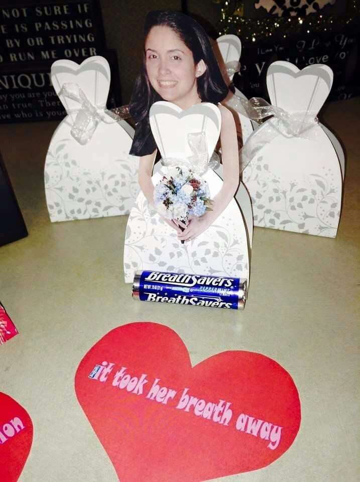 Dollar tree wedding dress party favor boxes. Added breathsavers ...