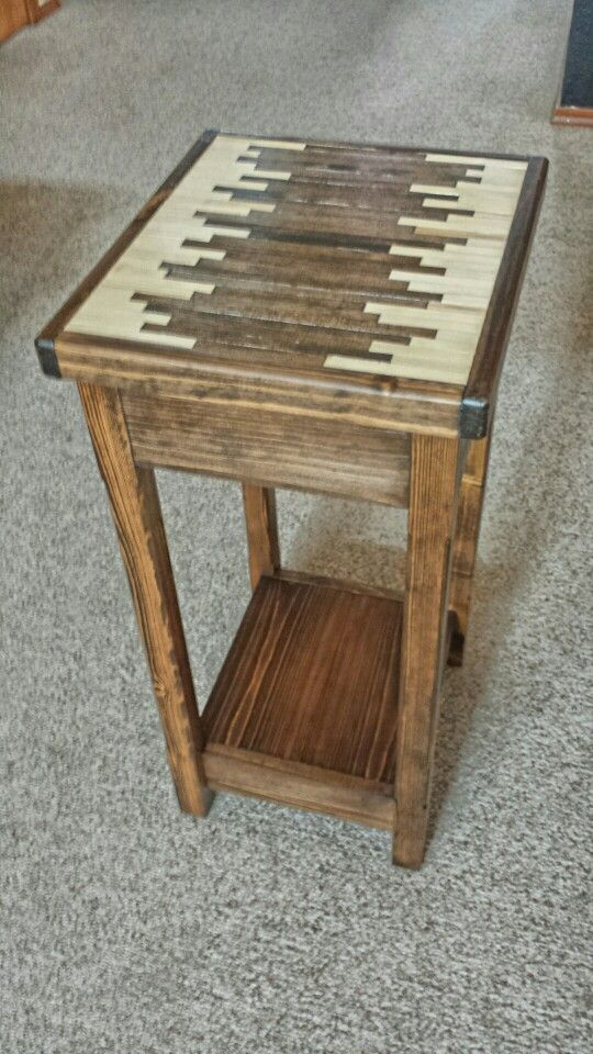 Two tone pine custom planter table my projects
