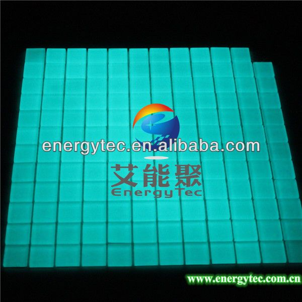 Mosaic Gl Tile Quality Fashion Directly From China Bathroom Suppliers Sky Blue Photoluminescent Luminofor Glow