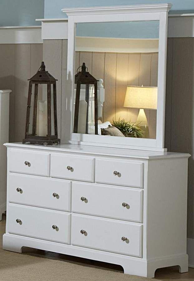 Morelle White Wood Metal Glass Dresser