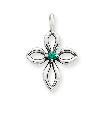 Avery remembrance cross with lab created emerald james avery avery remembrance cross with lab created emerald james avery aloadofball Choice Image