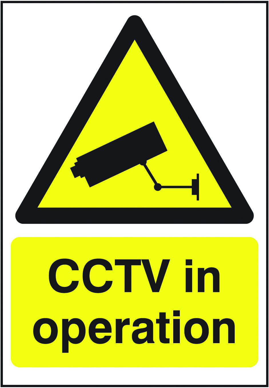 CCTV sign. Beaverswood Identification Solutions Hazard