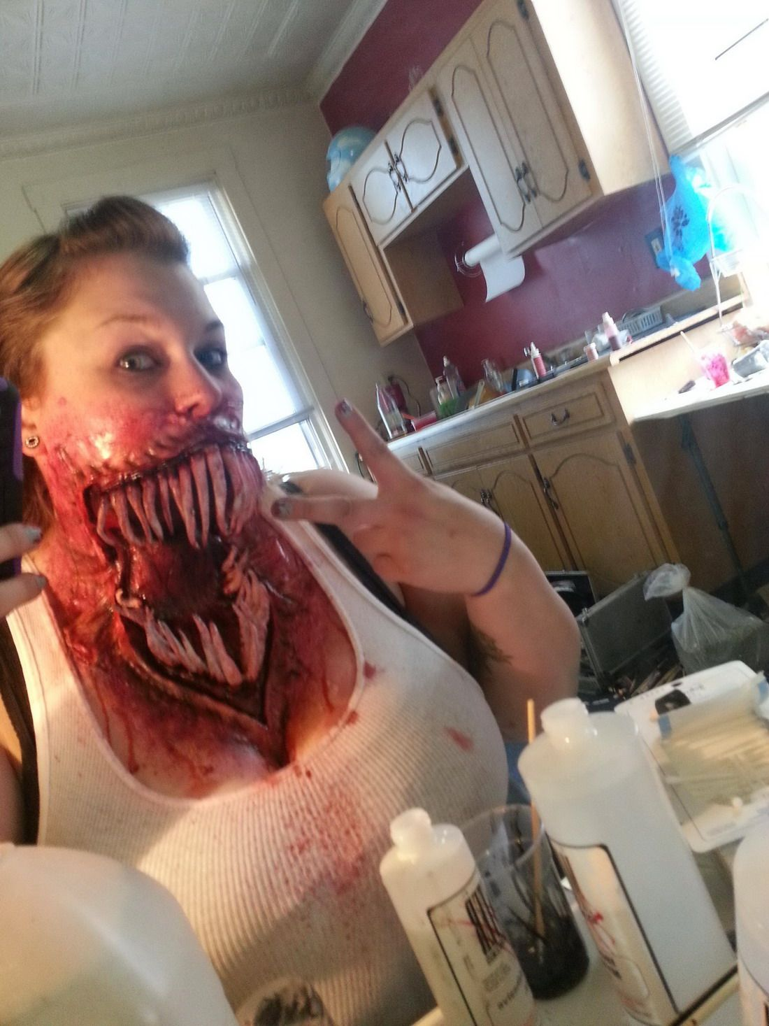 cool gross creature mouth | makeup and hair | Pinterest | Theater ...
