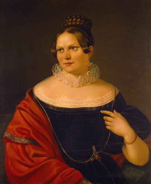 Paulsen Hamburg 1838 portrait of elisa paulsen thorvaldsen s by