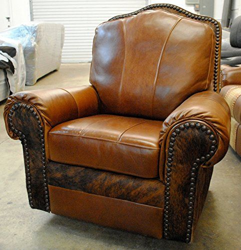 Western Leather And Cowhide Recliner Best Quality Cowhide