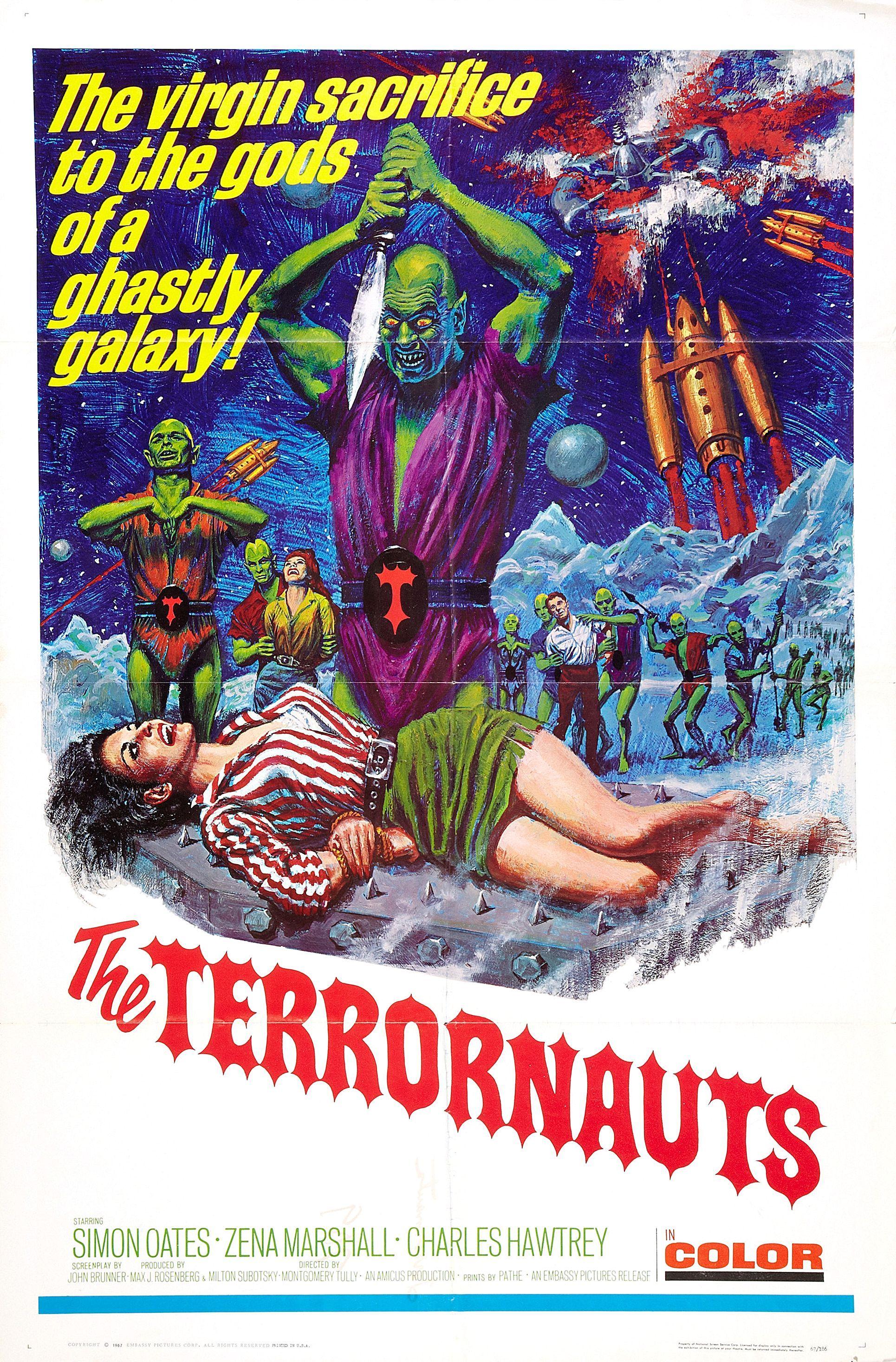 The Terrornauts (1967) Stars: Simon Oates, Zena Marshall, Charles Hawtrey ~  Director: Montgomery Tully