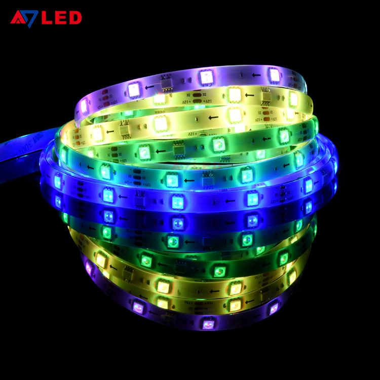 Cinta Led De Colores Dc12v Colorful Ws2811 Addressable Rgb Digital Magic Led Strip Light In 2020 Led Strip Lighting Strip Lighting Led Strip