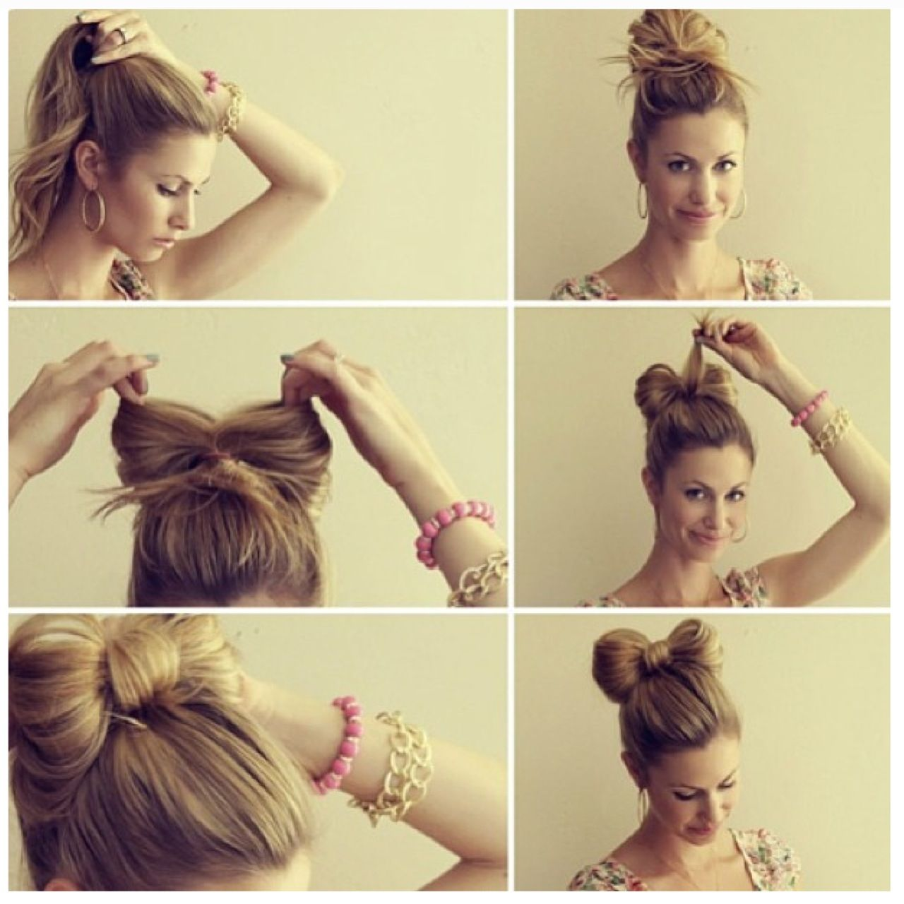 Bow hairstyle things i love pinterest hair style makeup and