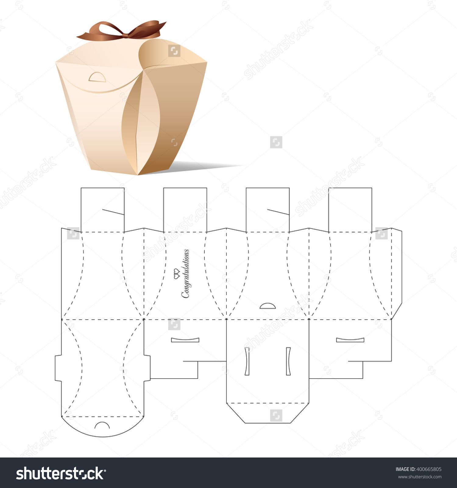 Retail Box With Blueprint Template Illustration