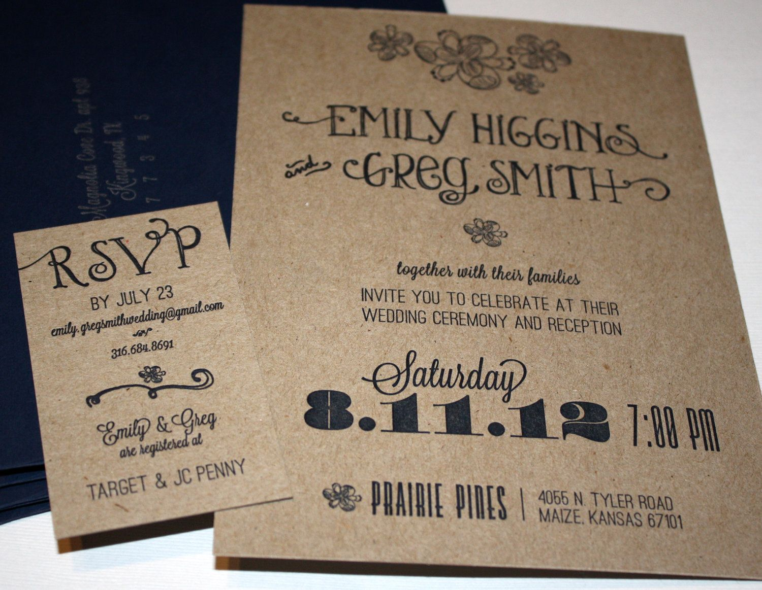 Garden Party Wedding Invitations spring summer fall wedding – Garden Party Wedding Invitations