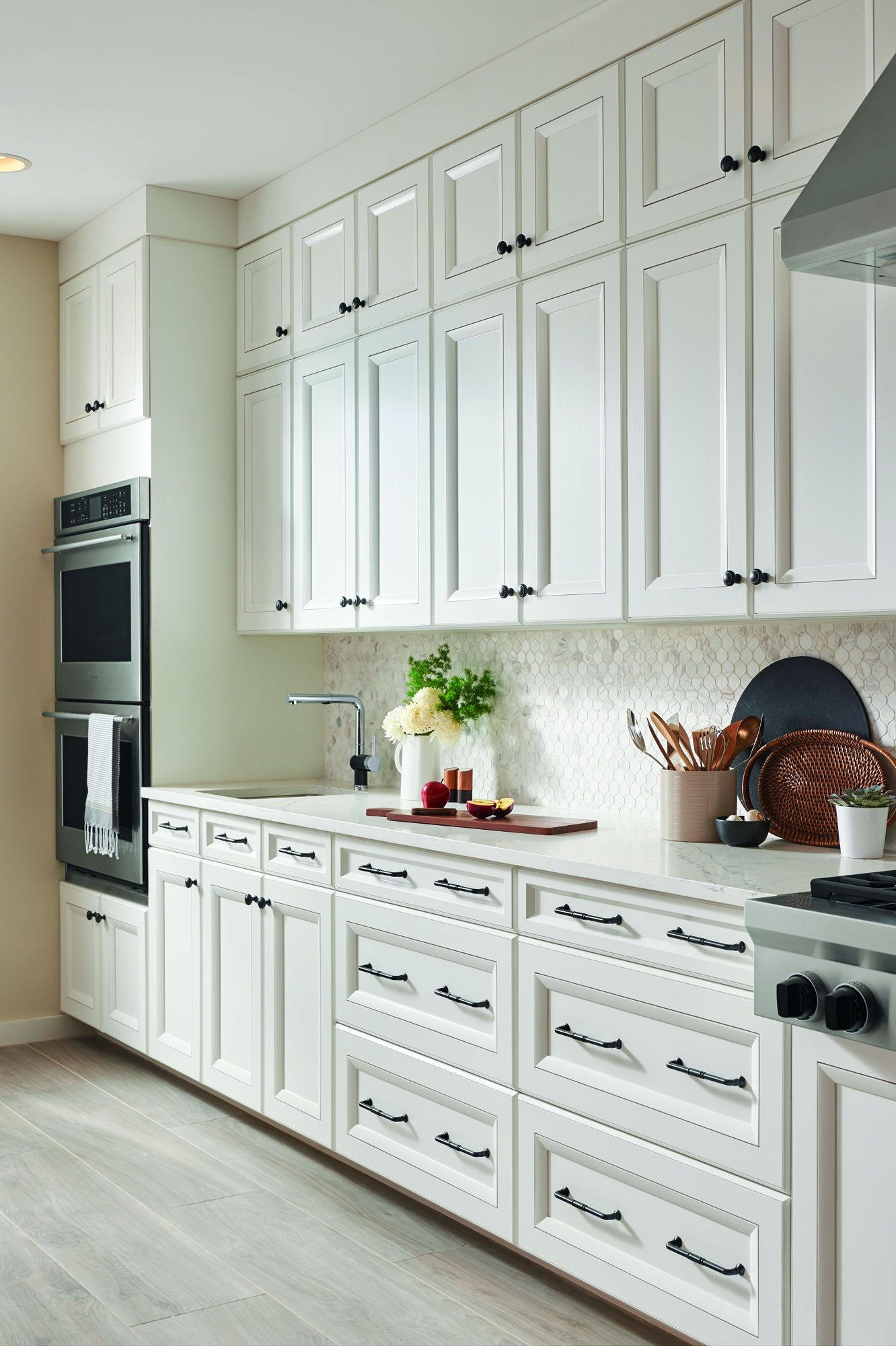 White kitchen cabinets, kitchen decor, kitchen hardware ...