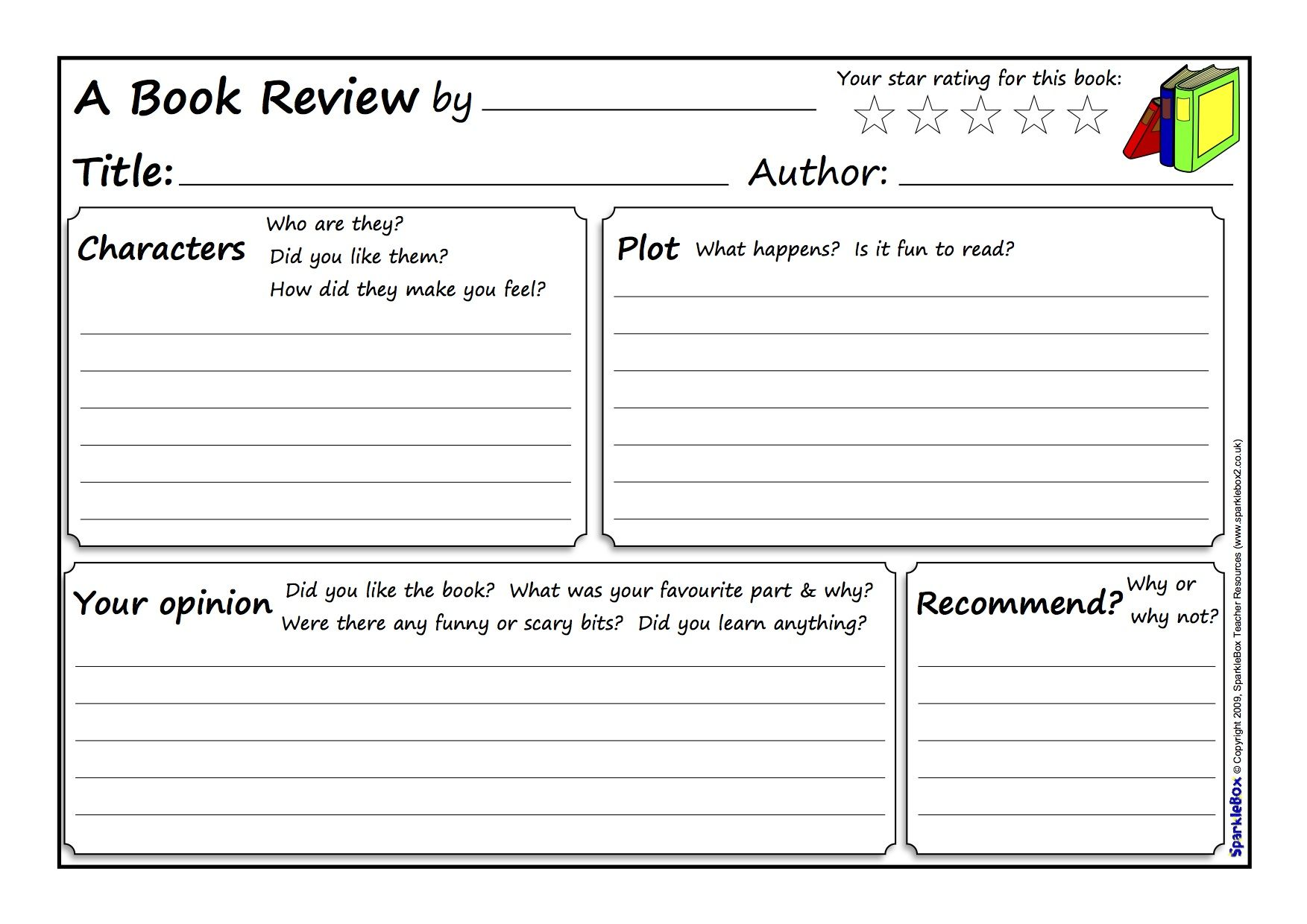 Great Book Review Template With Images