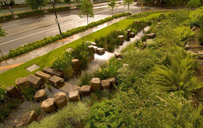 Rain Garden at the Oregon Convention Center SERENITY IN THE