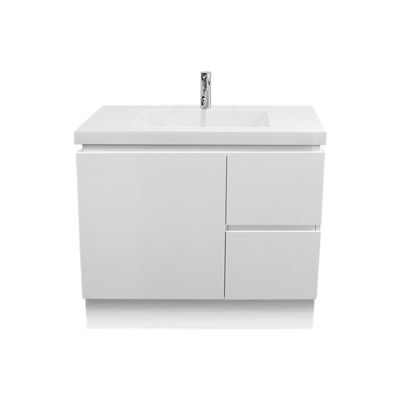 function 900mm polymarble floor vanity funcvan9 bunnings warehouse warehousevanitybathroomswashbasin