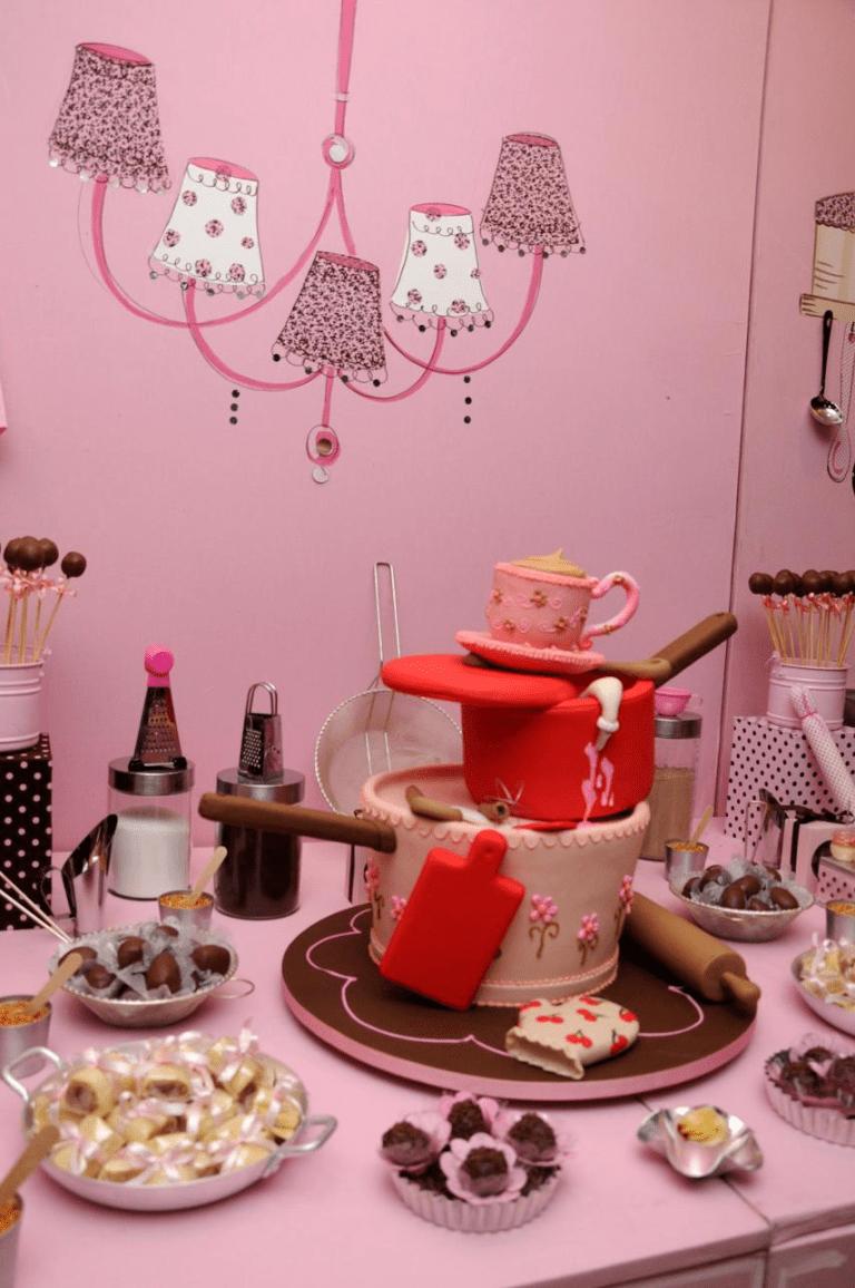 Chá de cozinha Caroline   Chá de cozinha, Chá de cozinha ...