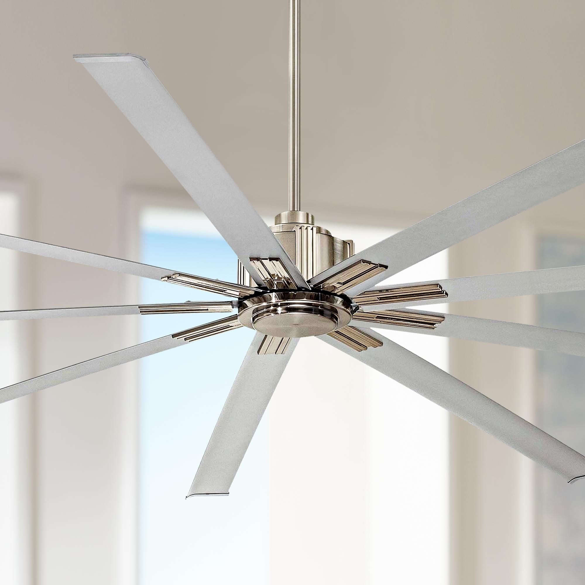 96 Inch Minka Aire Xtreme Brushed Nickel Ceiling Fan Di 2020