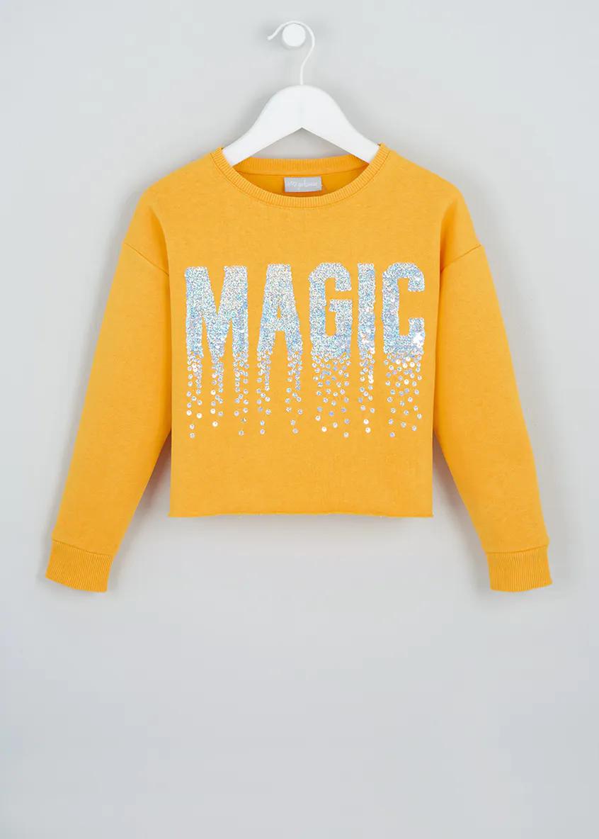 Tracksuit Top With Flip Sequins Osh Kosh Girls OshKosh Sequence Jumper Sweater