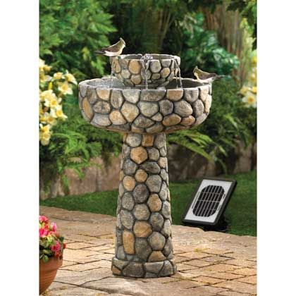 Grace Your Garden With Rustic Romance And The Music Of Flowing Water Total Weight 17 Lbs Garden Water Fountains Solar Water Fountain Water Fountains Outdoor