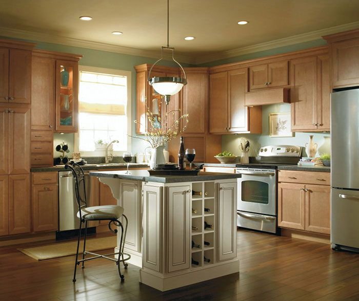 Light Maple Kitchen Cabinets: Choosing A Different Finish For The Same Cabinetry Can