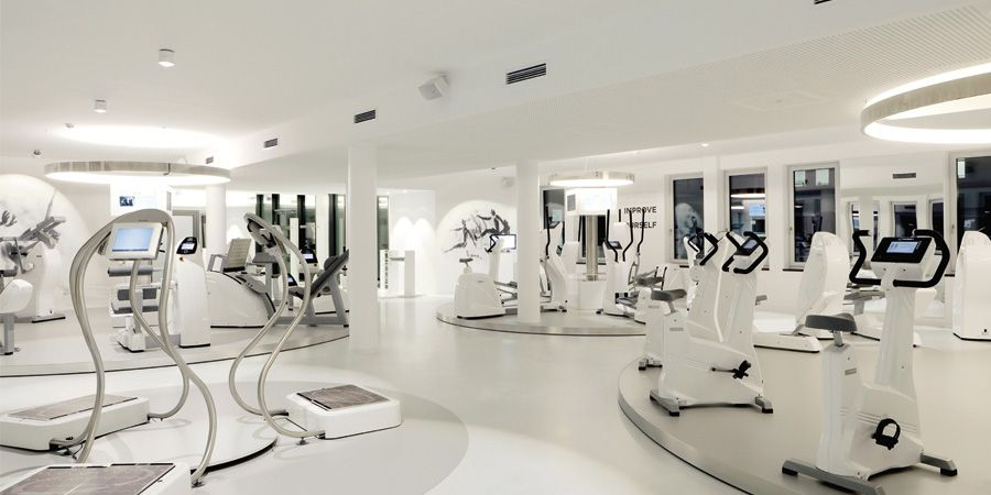Circle private health club minimal space for maximal