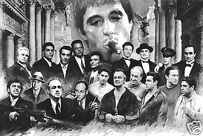 Scarface Soprano Godfather Good fellas Heat collage poster print #2