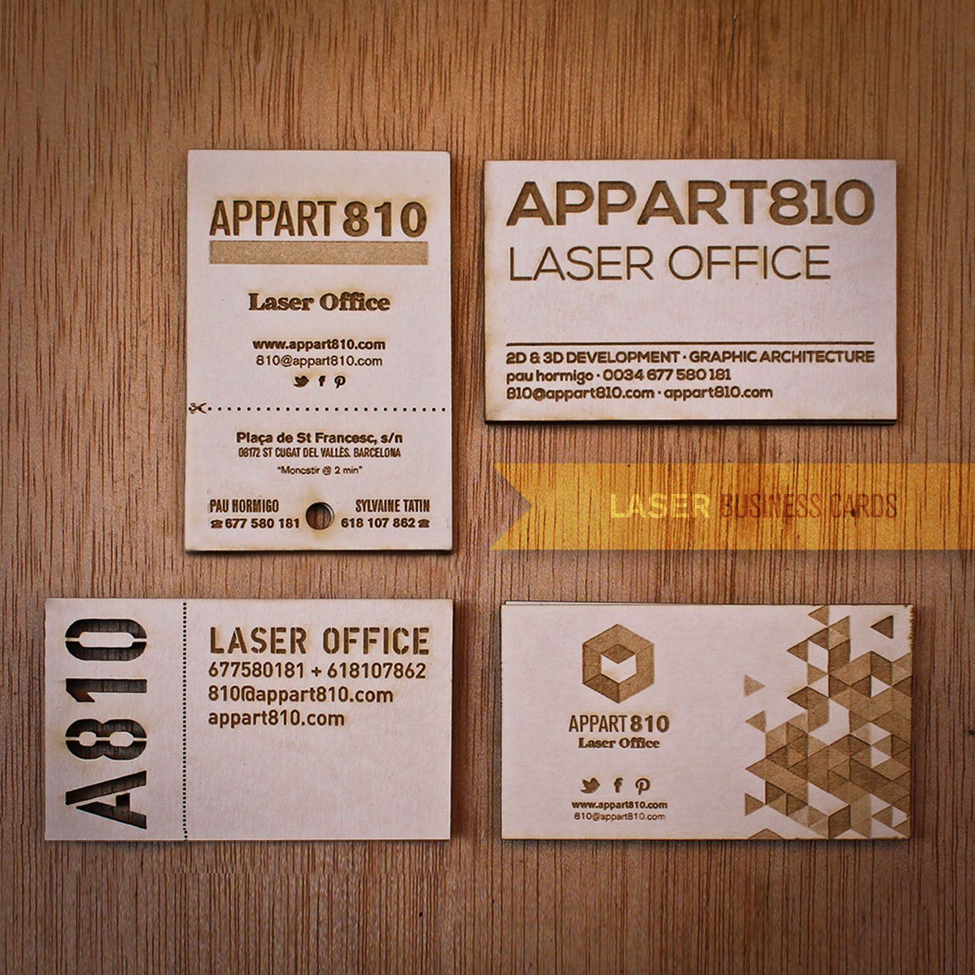 laser engraved business cards info