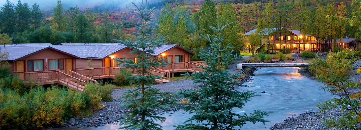 denali backcountry lodge has 42 private cabins in the heart of