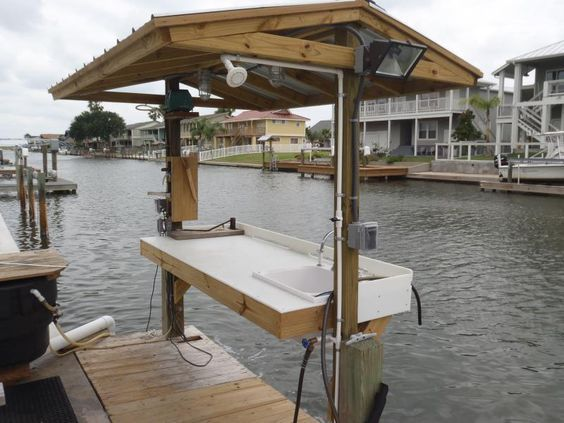 how to clean a boat dock