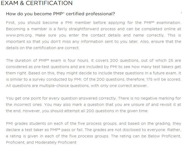 Pmp Certification Training Cost Exam Fee Sample Questions Course