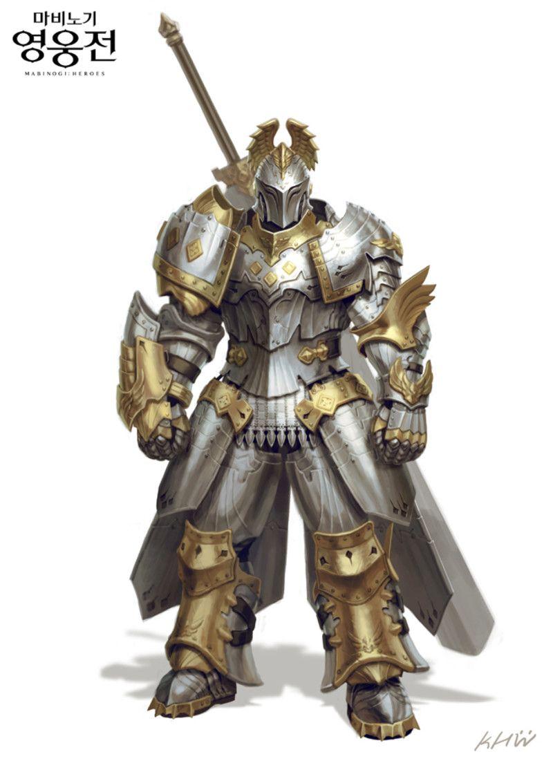ArtStation - Mabinogi heroes - concept art, Hyungwoo Kim in 2020   Armor concept, Fantasy armor