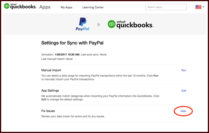 How to import transaction of PayPal card in QuickBooks