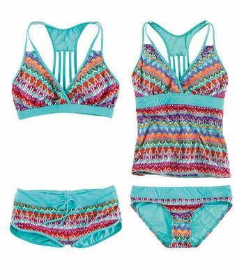 b5bbebb8fba Title Nine: Black Tide Tankini Top - Multi Print - The narrow, fast-moving  currents sweep warm waters our way, but they'll never sweep away this suit.