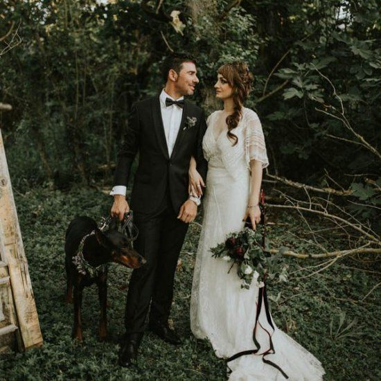 The mystery of Wonderland meets the beauty of the forest in this vintage whimsical wedding from Sttilo Photography.