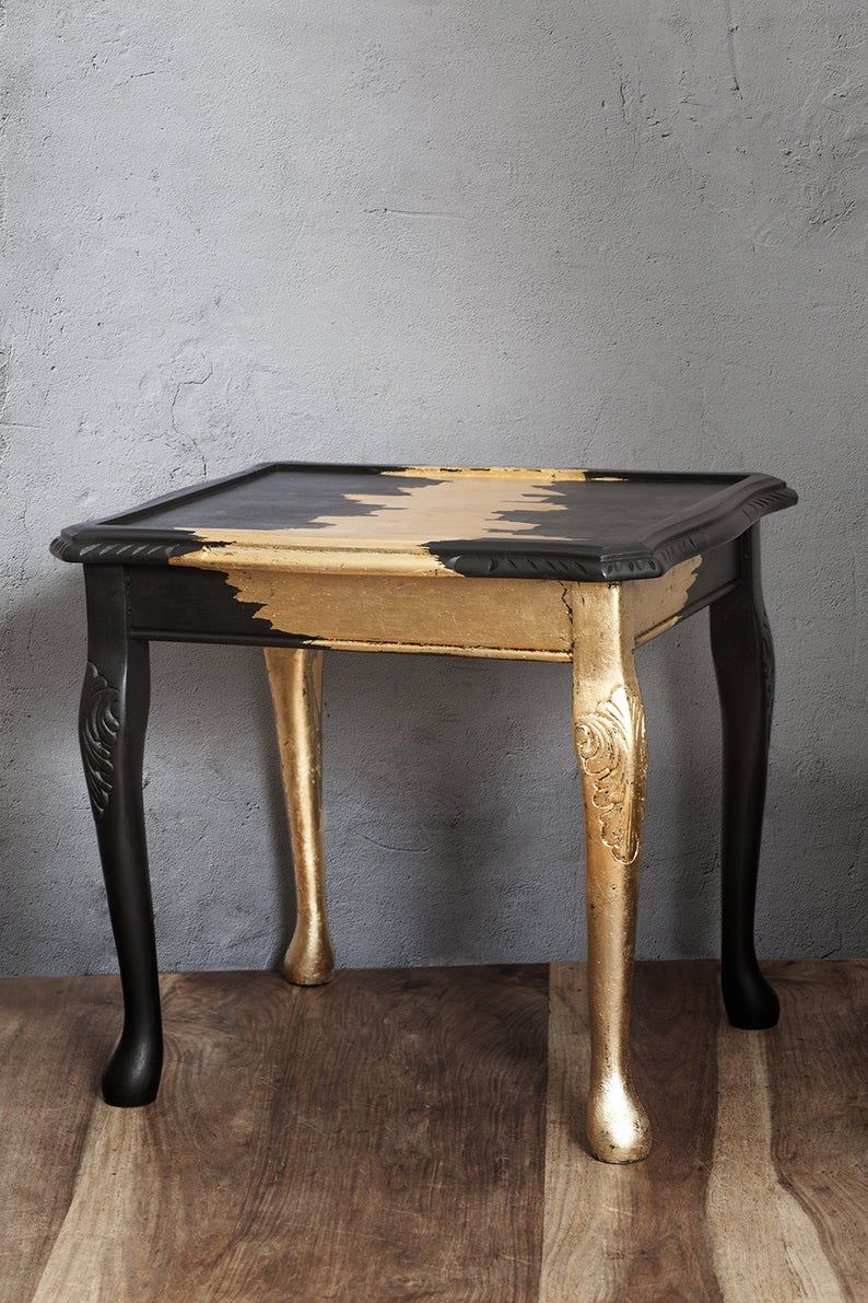 Coffee Table Furniture Vintage Table Furniture Gold Leaf Etsy Vintage Table Coffee Table Furniture Coffee Table