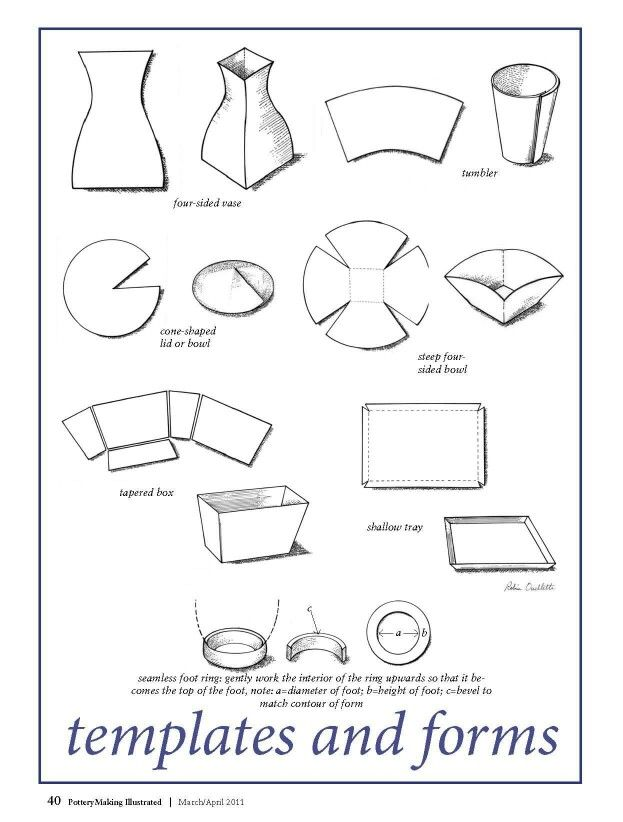 Massif image for printable pottery templates