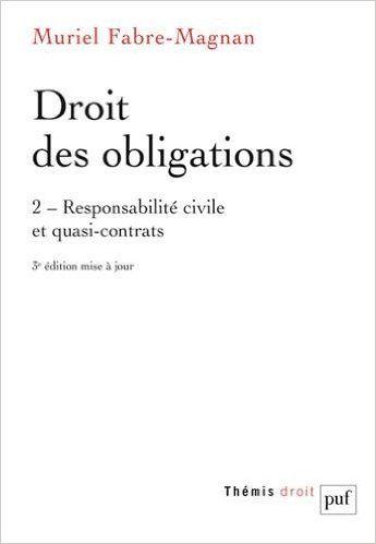 Droit Des Obligations Responsabilite Civile Et Quasi Contrats De