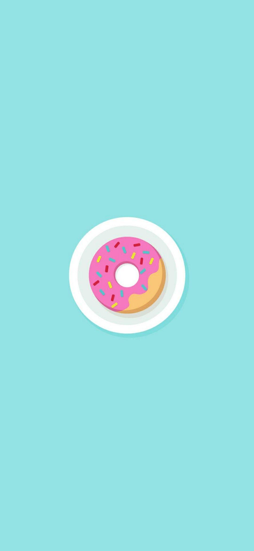 Donuts Minimal Wallpaper 1080x2340 Minimal Wallpaper Cute Mobile Wallpapers Minimalist Wallpaper