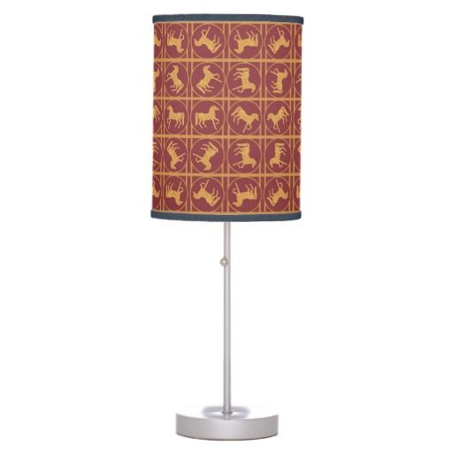 Year Of The Horse Maroon And Gold Lampshade Zazzle Com Lamp Table Lamp Year Of The Horse