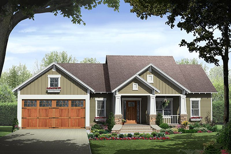 craftsman style house plan 3 beds 2 00 baths 1627 sq ft plan 21