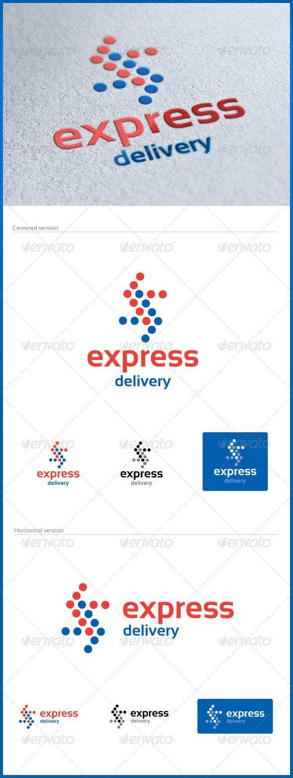 Express Delivery Logo (с изображениями) Работы
