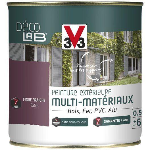 Peinture Multimateriau Exterieur V33 Figue Fraiche Satine 0 5 L